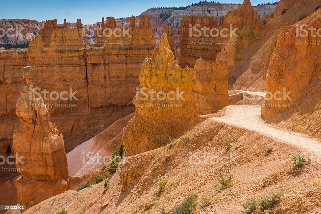 Navajo loop trail in Bryce Canyon stock photo