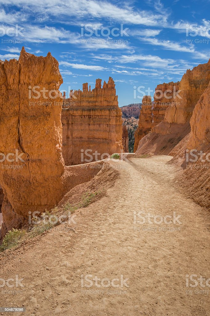 Navajo loop trail in Bryce Canyon stock photo