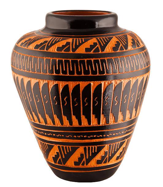 Navajo Native American Clay Pottery Vase stock photo