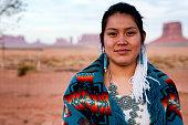 istock Navajo Native American Teenage Girl Outdoor Portrait 1069765500
