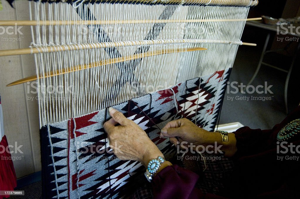 Navajo weaving stock photo