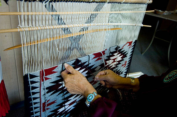 navajo weaving - navajo culture stock photos and pictures
