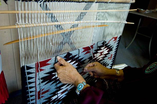Navajo weaving stock photo