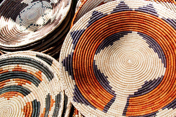 navajo wedding baskets - navajo culture stock photos and pictures