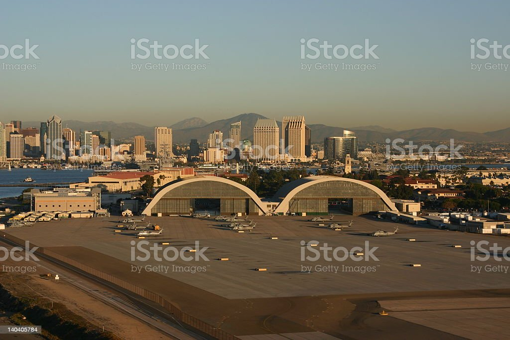 Naval Air Station North Island Hangars stock photo