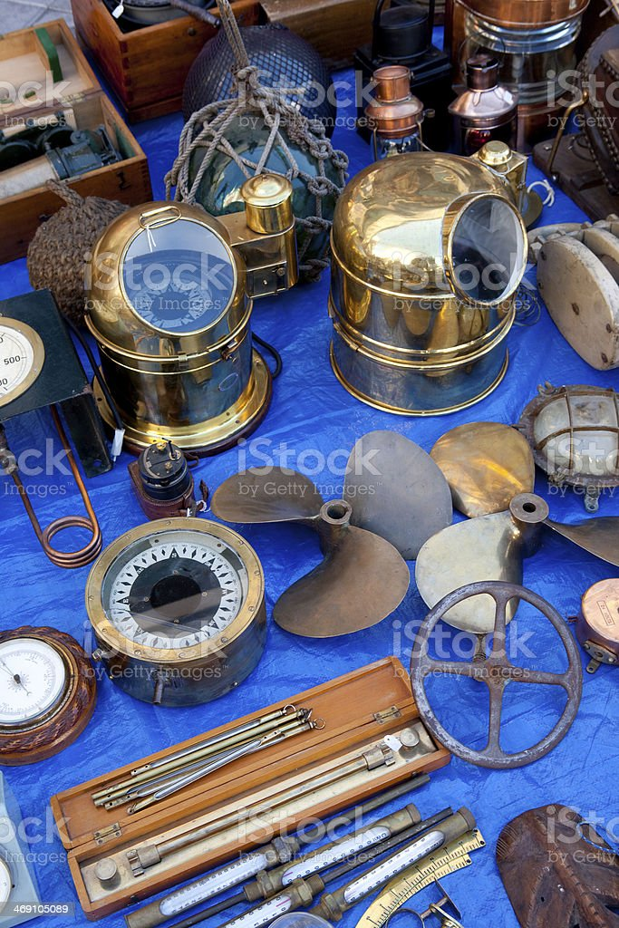 Naval Antiques stock photo