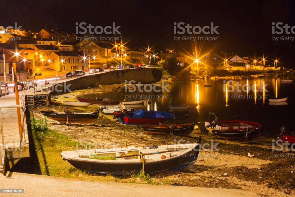 Naval beach at night royalty-free stock photo