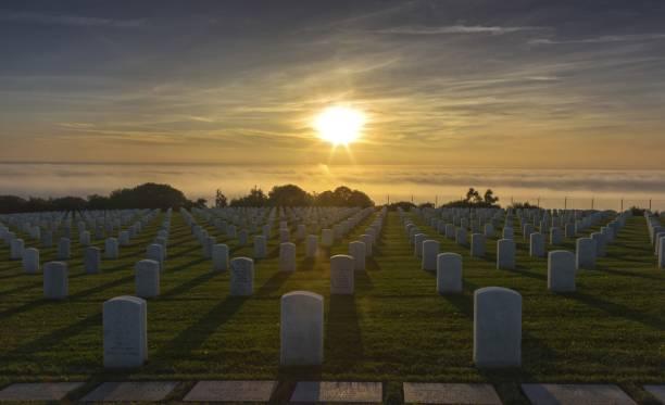 Naval Cemetery Point Loma Peninsula San Diego stock photo
