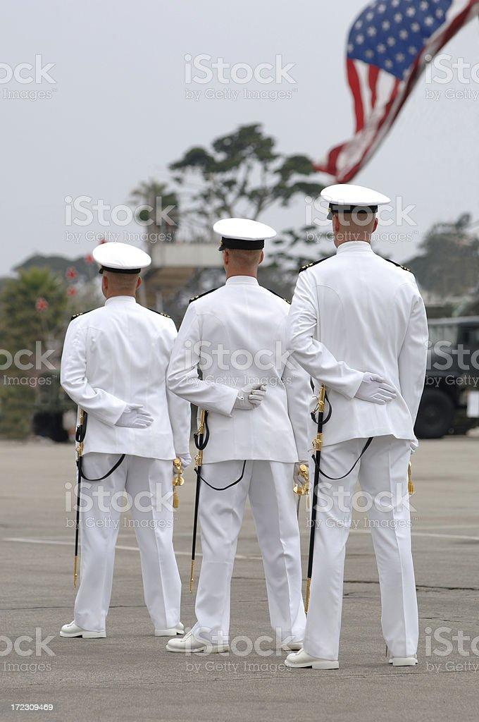 Naval Ceremony royalty-free stock photo