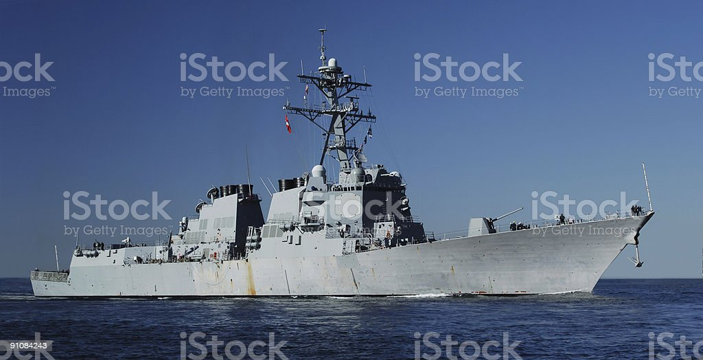 Naval Destroyer royalty-free stock photo