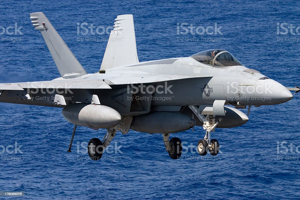 Naval Jet Airplane royalty-free stock photo