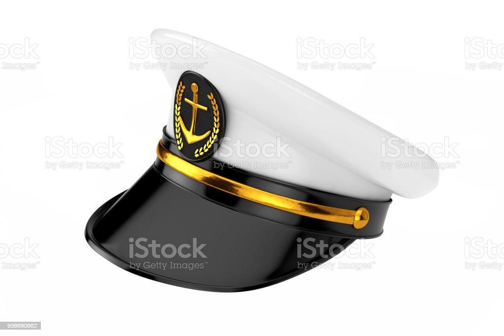 Naval Officer Admiral Navy Ship Captain Hat 3d Rendering