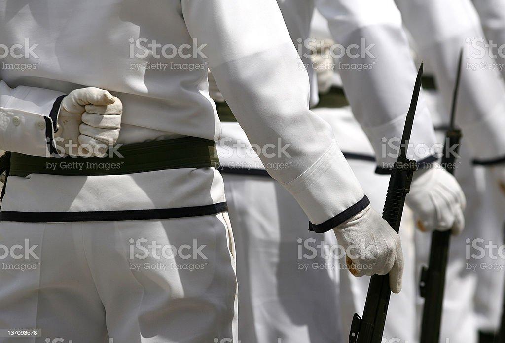 naval recruit royalty-free stock photo