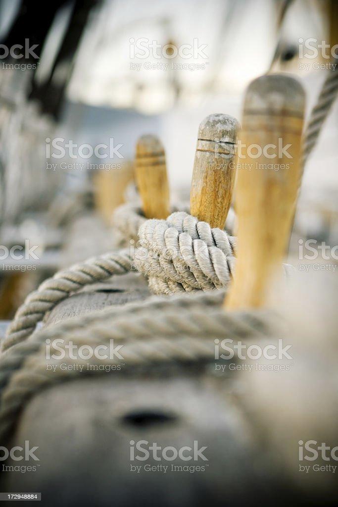 Naval ropes royalty-free stock photo