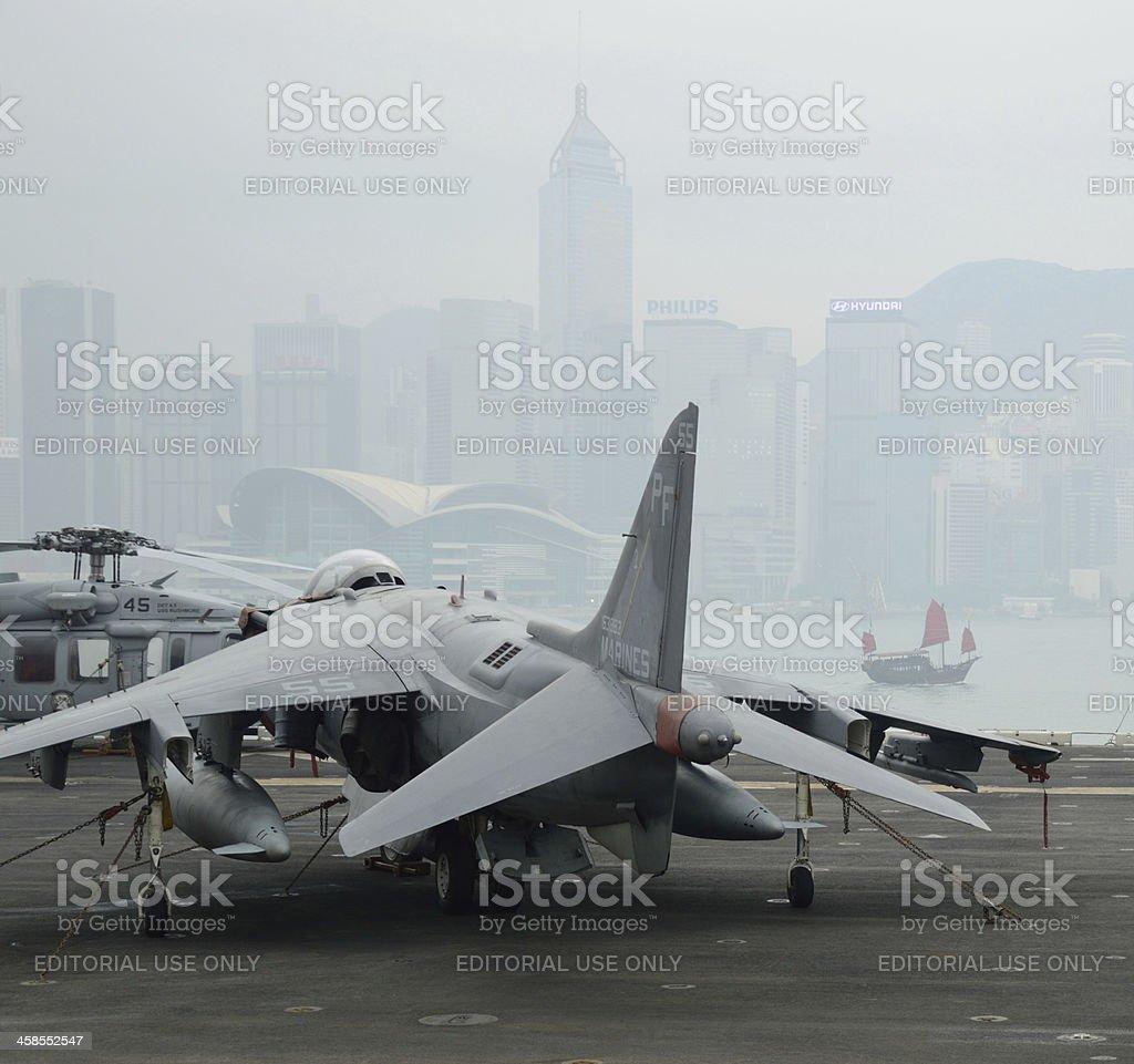 US naval ships, USS Peleliu in Hong Kong royalty-free stock photo
