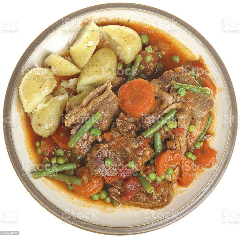 Navarin of Lamb Stew royalty-free stock photo