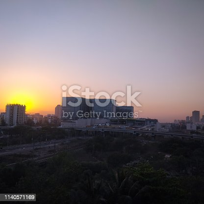 Navi Mumbai city scape evening view