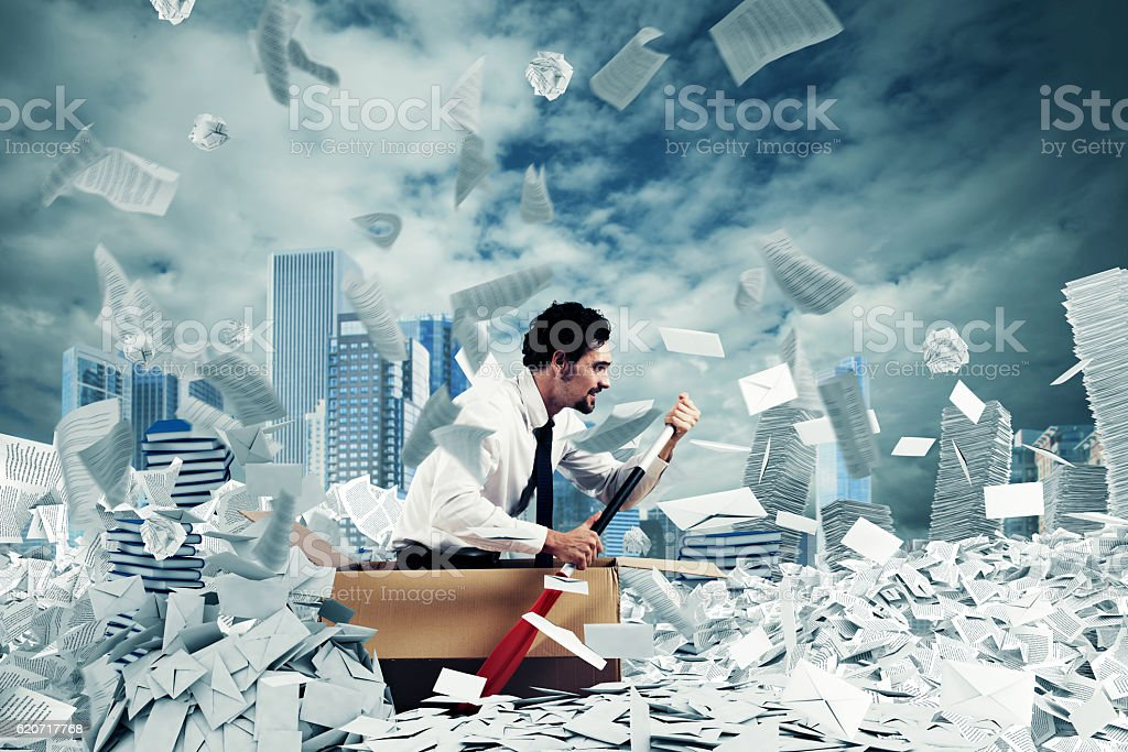 Navigate the bureaucracy stock photo