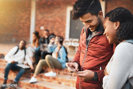 143071438 istock photo Navigating campus life with a mobile app 947724244