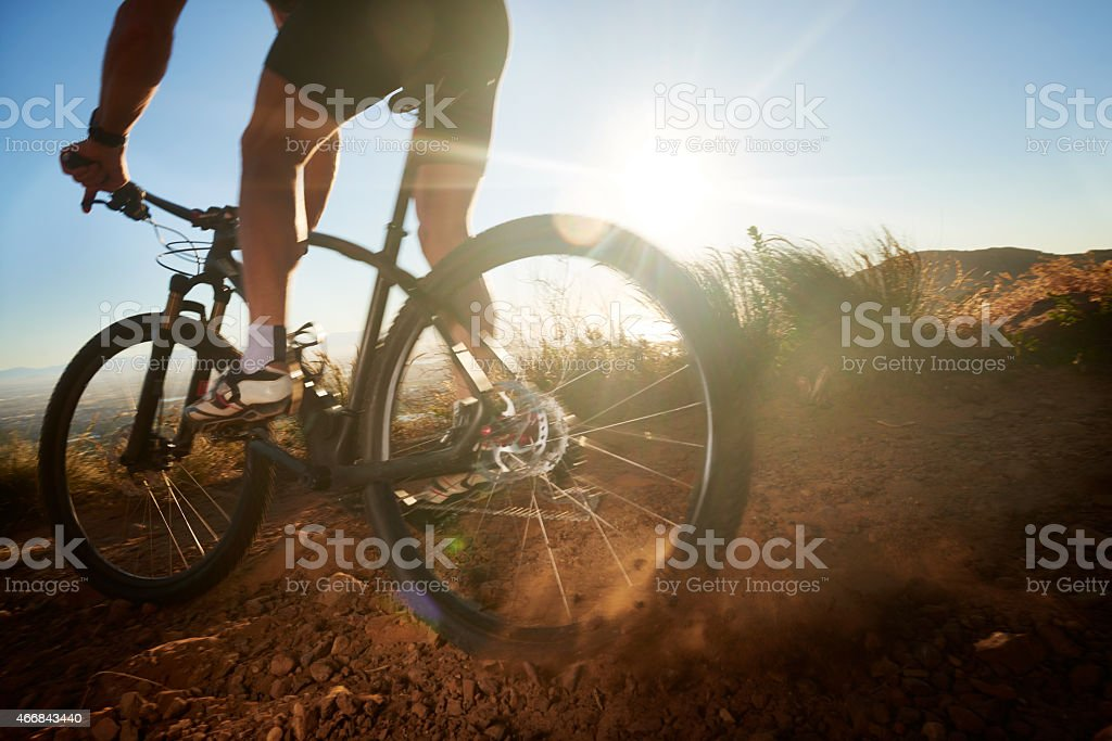 Navigating some rough terrain stock photo
