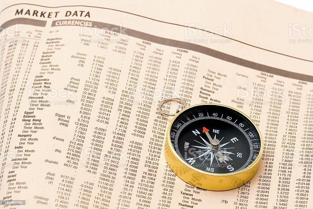 Navigating the market royalty-free stock photo