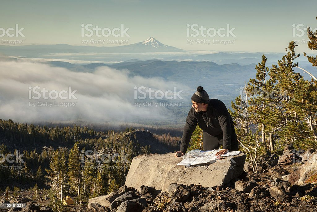Navigating the Mountain stock photo