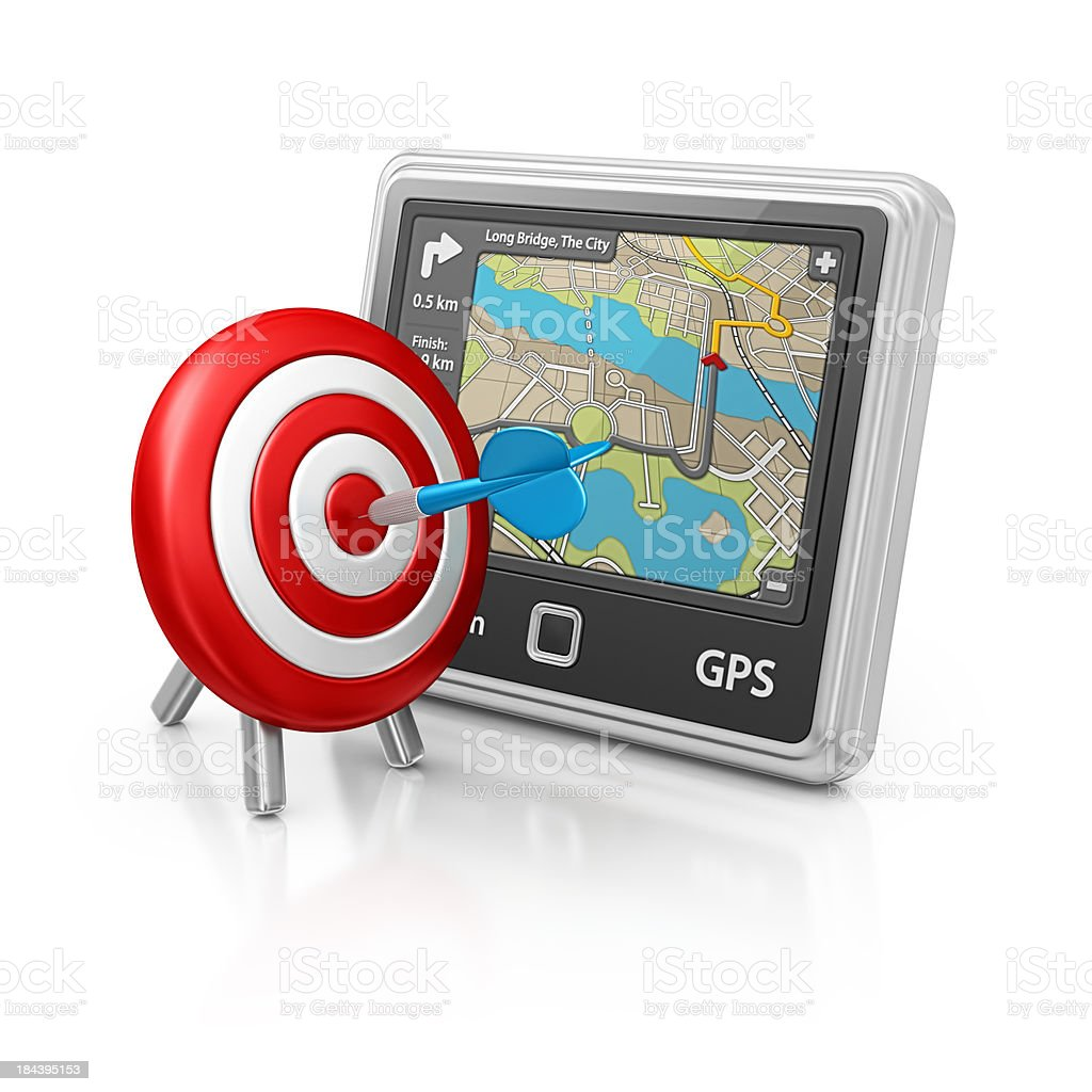 navigation and dart royalty-free stock photo