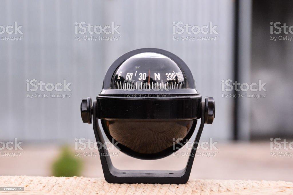 Navegação preto bússola - foto de acervo