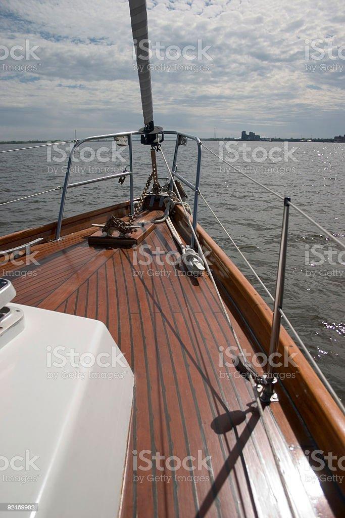 Navigation, Bow, Sailboat stock photo
