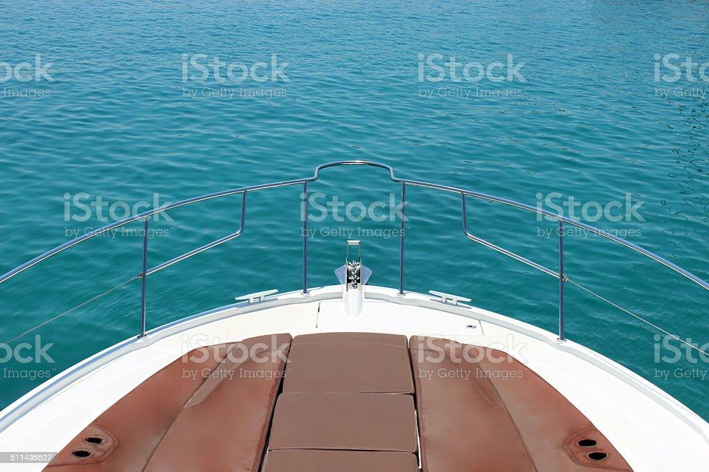 Navigation, Bow, Yacht stock photo