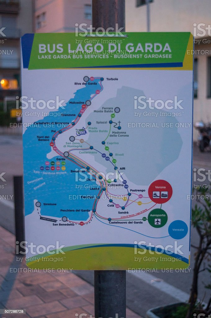 Navigation Bus Route Map In Verona Stock Photo - Download ...