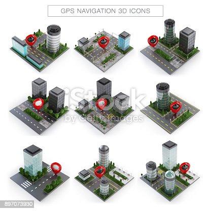 610119450 istock photo GPS Navigation Icons 897073930