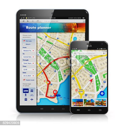 istock GPS navigation on mobile devices 529420925