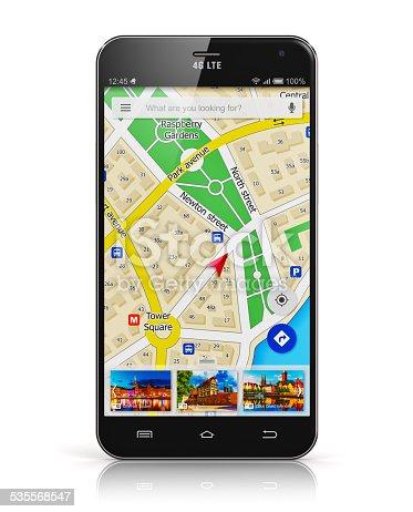 835195838istockphoto GPS navigation on smartphone 535568547
