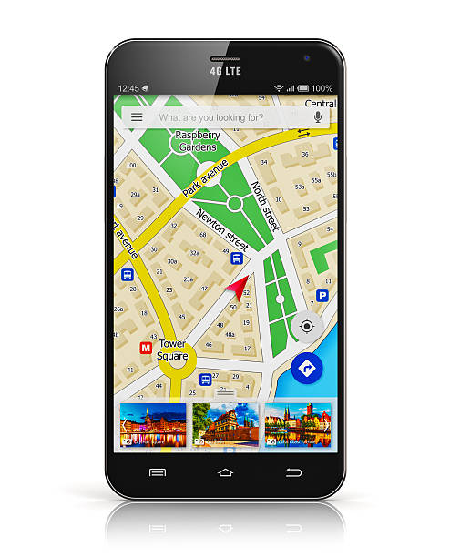 navigation GPS sur smartphone - Photo