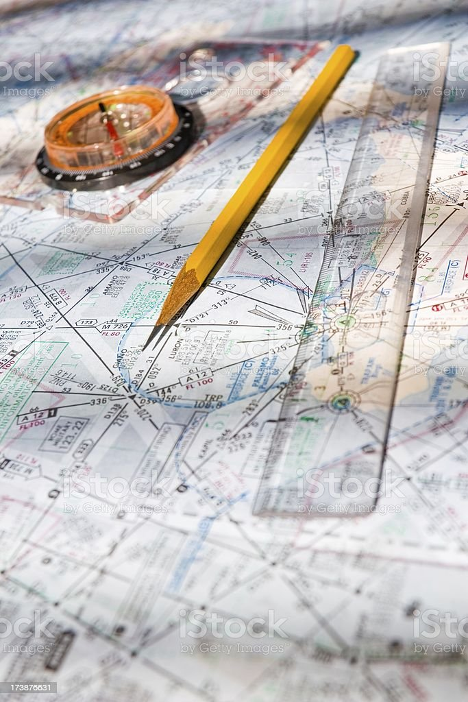 Navigation supplies stock photo