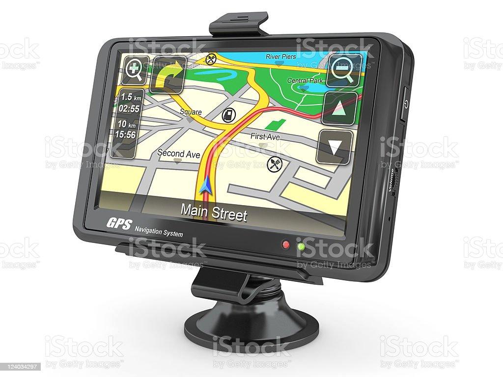 Navigation system. Gps. 3d royalty-free stock photo