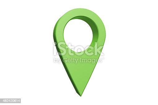 illustration of a GPS/Navigational Pointer Isolated on a white background.