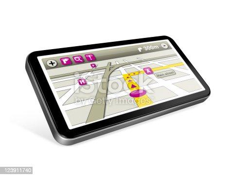 istock GPS navigator isolated on white 123911740