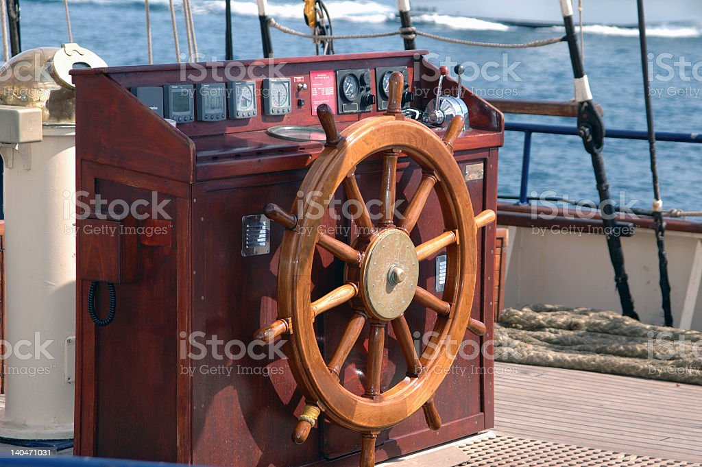 Navigator Wheel. royalty-free stock photo
