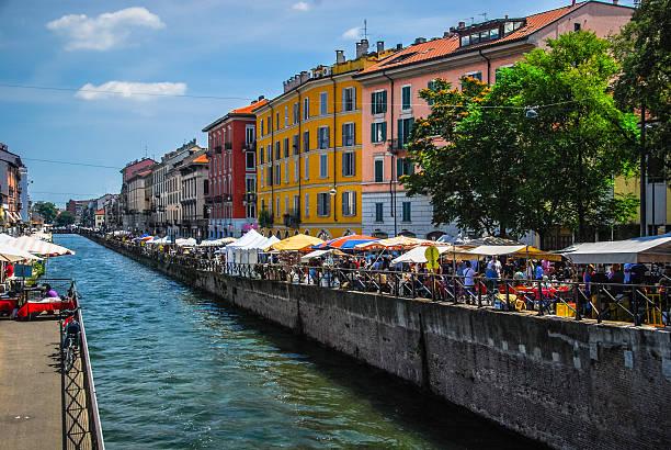 Naviglio Grande - Milan, Italy stock photo