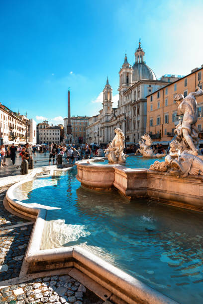 Navona square, Rome, Italy Navona square, Rome, Italy rome italy stock pictures, royalty-free photos & images