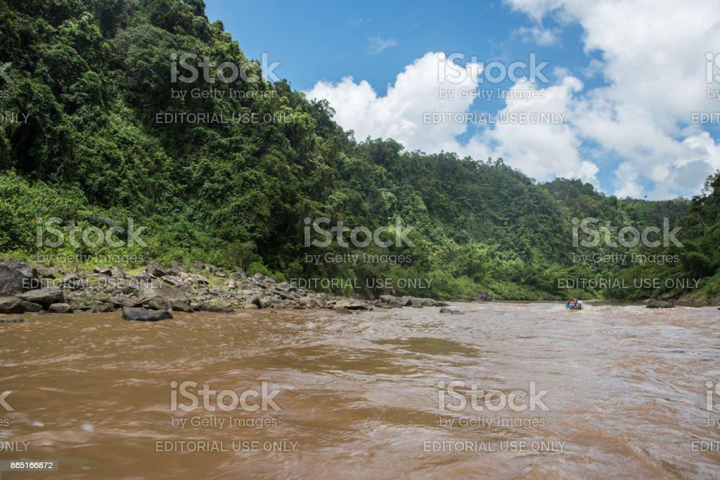 Navua River Longboat Ride stock photo