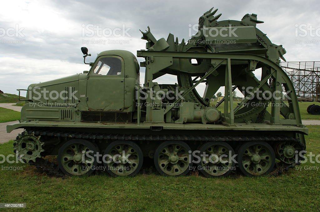 Navvy (The Soviet technique) stock photo