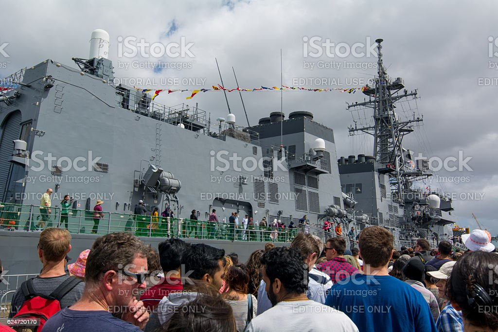 NZ Navy - 75 years stock photo