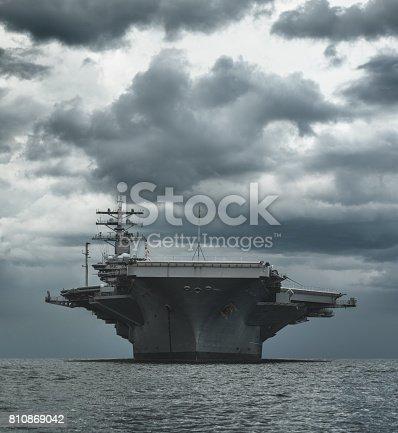 The USS Dwight D. Eisenhower, a Nimitz class nuclear powered air craft carrier visiting Halifax Harbour.
