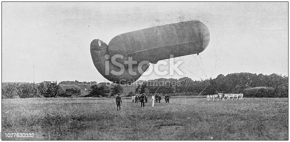 Navy and Army antique historical photographs: German War Balloon