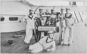 Navy and Army antique historical photographs: Gunnery Instructors,
