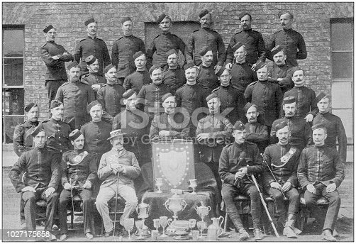 Navy and Army antique historical photographs: Irish rifles
