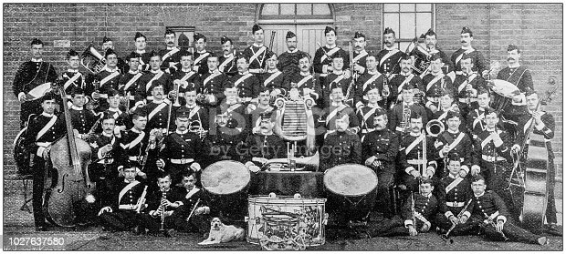 Navy and Army antique historical photographs: Musical band, Lancaster